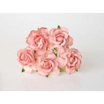 Кудрявые розы 4 см - Персиковые, 1 шт.
