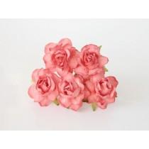 Кудрявые розы 4 см - Коралловые #2, 1 шт.