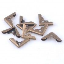 """Уголок металлический с буквой """"А"""", цвет бронза, 17х17 мм., 1 шт."""