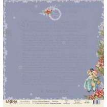 """Лист Рождественские подарки, односторонняя, из коллекции """"Сказочное Рождество"""", размер 30.5х30.5 см, 190 гр\м2."""