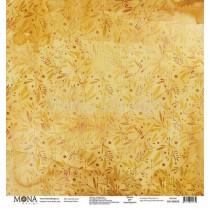 """Лист Золотая осень - коллекция """"Осень"""" размер 30,5х30,5см., пл.190 г/м2"""