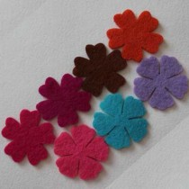 Набор вырубок из фетра цветы №5