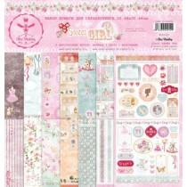 Набор бумаги SWEET GIRL 30.5 на 30.5, 8 двусторонних листов, 190 г/м.