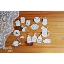 набор Кухонная утварь, набор состоит из 16 элементов размер кружки с трубочкой 4,4х5,8