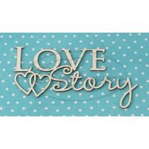 """Надпись """"Love story"""" №1 размер 8*5 см"""