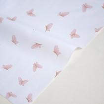 "Отрез ткани ""Imagination - Бабочки на белом"" 33х78 см"