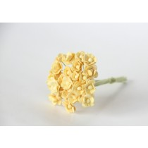 Цветы вишни мини 1 см - Св.желтые 147 1 шт