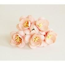 Цветы вишни - Розовоперсиковые 123 1 шт