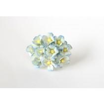 Цветы вишни средние - Голубые 2хтоновые 563 1 шт