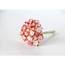 Цветы вишни мини 1 см - Красный+белый 507 1 шт