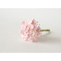 Цветы вишни мини 1 см - Розовый+белый 518  1 шт