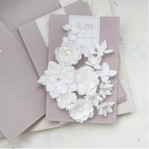 """Цветы из ткани """"Базовый микс"""" белый"""