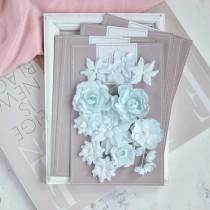 """Цветы из ткани """"Базовый микс"""" мятный"""
