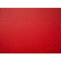 """Бумага с рельефным рисунком """"Завитки"""" Цвет: Красный 1 лист"""