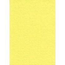 """Бумага с рельефным рисунком """"Дамасский узор"""" Цвет: Ярко-Желтый"""