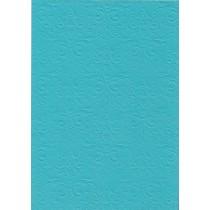 """Бумага с рельефным рисунком """"Дамасский узор"""" Цвет: Ярко-Голубой"""