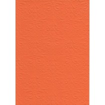 """Бумага с рельефным рисунком """"Дамасский узор"""" Цвет: Оранжевый"""