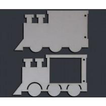 Паровозик (4 элемента, 12х22 см), ЗВ003