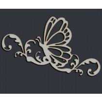 Бабочка на веточке (8,5х5,2 см), CB019