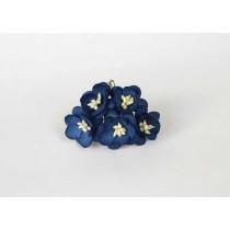 Цветы вишни средние - Синие 175 1 шт, 1,5-2см высота цветка 1 см длина стебля ок 7 см