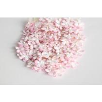 Цветочки маленькие 2 см - Розовый+белый 518 1 шт
