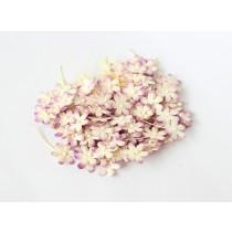 Цветочки маленькие 2 см - Сиреневый+молочный 538  1 шт
