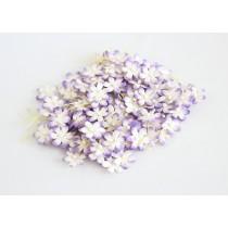 Цветочки маленькие 2 см - Сиреневый+белый 543  1 шт