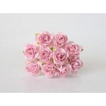 Кудрявые розы 2 см - Св.розовые, 1 шт