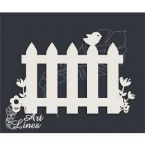 Забор с птичкой (6,8х4,5 см), CB300
