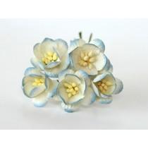 Цветы вишни - Голубые 2хтоновые 563 , 1 шт