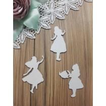 Алиса набор из 3 фигур, размер примерно 70 мм