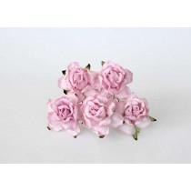 Кудрявые розы 4 см - Св.розовые 1 шт