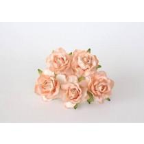 Кудрявые розы 4 см - Св. оранжевые, 1 шт