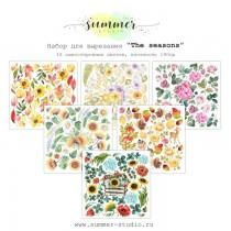 """1/3 набора для вырезания """"The seasons"""" 6 листов, 190гр, 20*20см"""