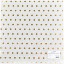 """Прозрачный ацетатный лист с золотым фольгированием """"В горошек"""", размер 305х305 мм"""