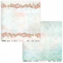 "Лист двусторонней бумаги ""Amidst the Roses 07/08"" 30,5х30,5 см., пл.250 гр."