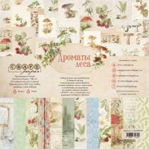 "Набор бумаги ""Ароматы леса""8 листов, размер 20х20 см, пл.190 гр\м2"