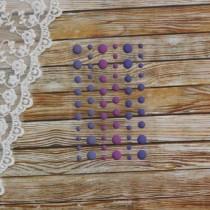 Эмалевые точки (дотсы) матовые, фиолетовый, на подложке 54 штуки, размер 4-8 мм.