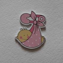 """Декоративное украшение """"Малышка в пеленке"""",1 шт, цвет розовый"""