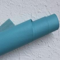 Отрез кожзама на тонкой тканевой основе 50х35 см., бирюзовый