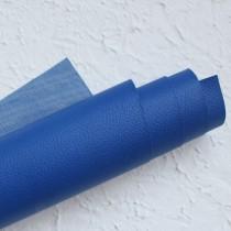 Отрез кожзама на тонкой тканевой основе 50х35 см., синий