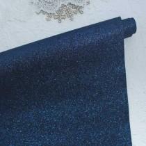 Отрез кожзама с глиттером 50х34 см., синий