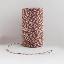Шпагат хлопковый двухцветный коричневый 1м