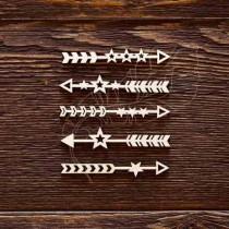 Стрелочки - звездочки (6 х 0,8 см (1 элем)), CB479