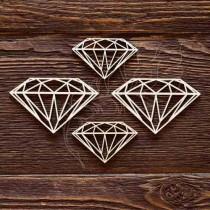 """Набор """"Алмазы"""" (4элемента) (6,5Х4см; 5х3,1см), CB481"""