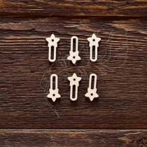 Набор анкеров звёздочка 6шт (2,5х1,2 см), CB492