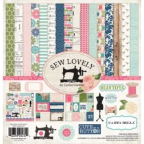 Набор бумаги 30*30 см 12 листов 1 лист стикеров Sew Lovely CBSL25016
