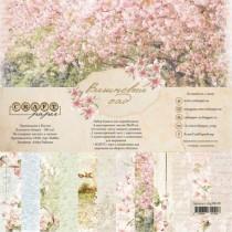 "Набор бумаги ""Вишнёвый сад"" размер 20х20 см, пл.190 гр\м2"