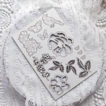 """Набор чипборда """"Цветы"""" из коллекции """"Dreams come true"""" 10х15 см, 1.55 мм"""