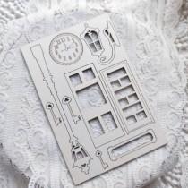 "Набор чипборда ""Часы"" из коллекции ""Dreams come true"" 10х15 см, 1.55 мм"